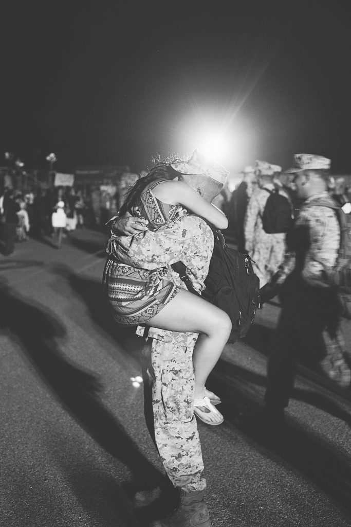 Bryson & Chyanne: Camp Pendleton Homecoming Photographer