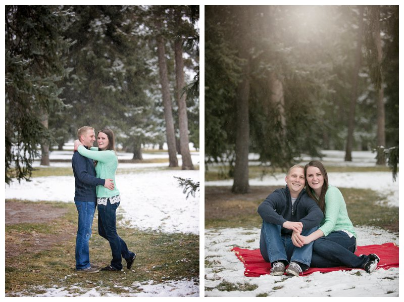 winter engagement snow