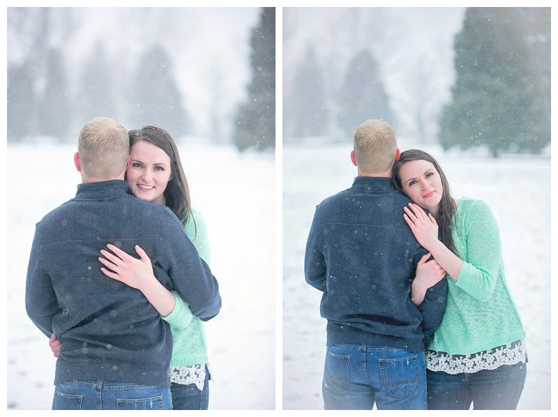 couple in snow photography