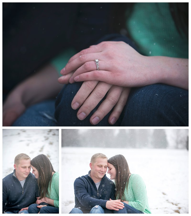 snow, denver, winter, engagement